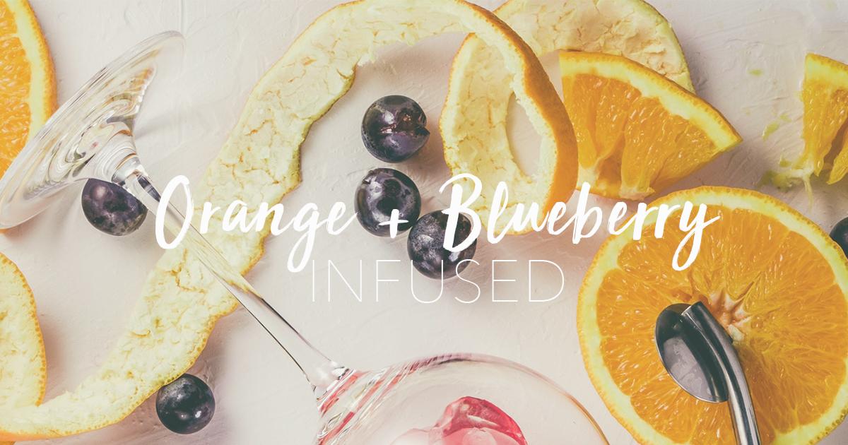 orange and blueberry