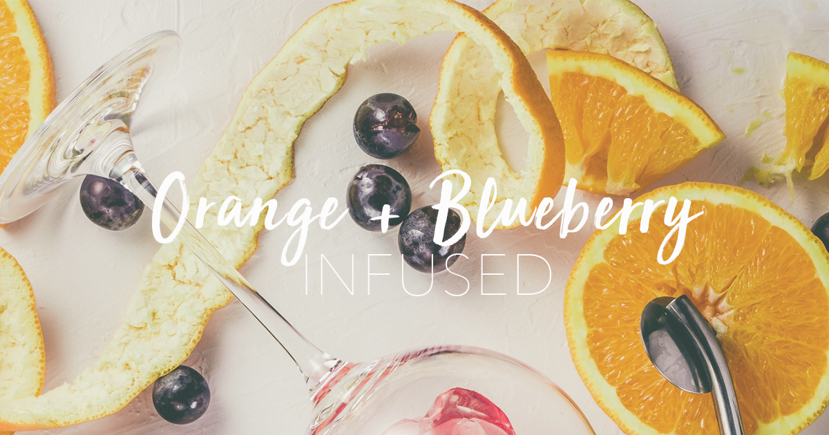 orange and blueberry
